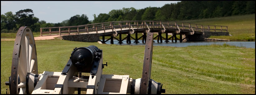 Concord Bridge and cannon